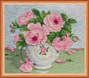 Набор для вышивки крестом Розовые цветы