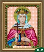 Рисунок на ткани для вышивки бисером Св. Мученица Людмила