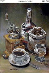 Схема для вышивки бисером на габардине Ароматный кофе Acorns А4-К-208 - 45.00грн.