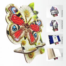 Подставка под телефон с алмазной мозаикой Бабочка в ромашках Art Solo АРМ-01 - 299.00грн.