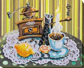 Набор для вышивки бисером Кофе с лимоном Абрис Арт АВ-531 - 540.00грн.