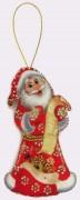 Набор для изготовления игрушки из фетра для вышивки бисером Дед Мороз