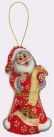 Набор для изготовления игрушки из фетра для вышивки бисером Дед Мороз, , 48.00грн., F026, Баттерфляй (Butterfly), Наборы для шитья кукол