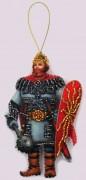 Набор для изготовления игрушки из фетра для вышивки бисером Богатырь
