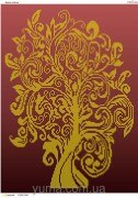 Схема вышивки бисером на атласе Дерево изобилия