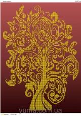 Схема вышивки бисером на атласе Дерево изобилия Юма ЮМА-3143
