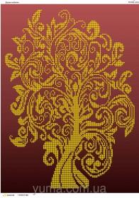 Схема вышивки бисером на атласе Дерево изобилия, , 61.00грн., ЮМА-3143, Юма, Схемы и наборы для вышивки бисером по Фен шуй