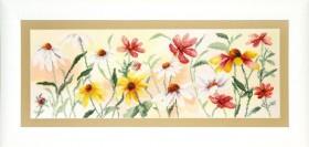 Набор для частичной вышивки крестом  Красочные цветы