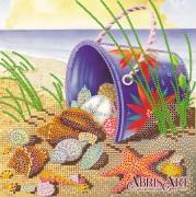 Схема вышивки бисером на холсте На морском берегу