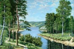Набор для выкладки алмазной мозаикой Лесная река Алмазная мозаика DM-020 - 565.00грн.