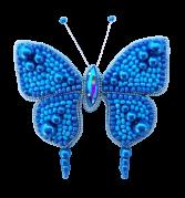 Набор для изготовления броши из бисера Бабочка (Голубая)