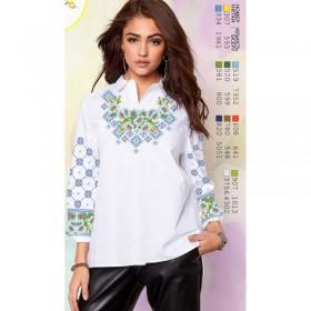 Заготовка женской сорочки на белом габардине Biser-Art SZ72 - 320.00грн.