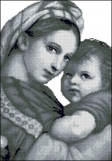 Схема вышивки бисером на габардине Мадонна із дитям Эдельвейс С-273(ІІ)