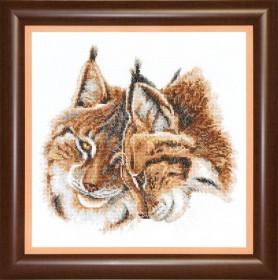 Набор для вышивания крестом Кошачья нежность