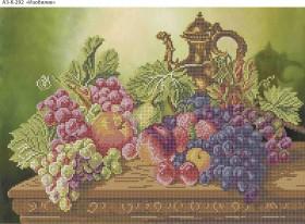 Схема для вышивки бисером на габардине Изобилие, , 70.00грн., А3-К-292, Acorns, Пейзажи и натюрморты