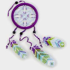 Набор для вышивания бисером на пластиковой основе Ловец снов Волшебная страна FLPL-024