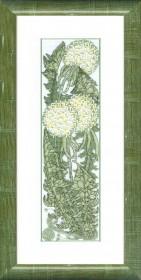 Набор для вышивки в смешанной технике Полевой модерн, , 111.00грн., ВТ-1016, Cristal Art, Цветы
