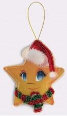 Набор для изготовления игрушки из фетра для вышивки бисером Звёздочка Баттерфляй (Butterfly) F029