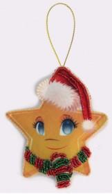 Набор для изготовления игрушки из фетра для вышивки бисером Звёздочка, , 48.00грн., F029, Баттерфляй (Butterfly), Наборы для шитья кукол
