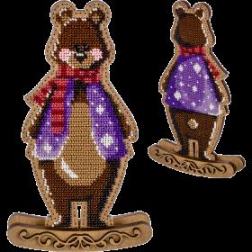 Набор для вышивки  бисером по дереву Медведь Волшебная страна FLK-289 - 350.00грн.