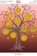 Схема для вышивки бисером на атласе Грошове дерево