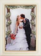 Набор для вышивки нитками Поцелуй невесты
