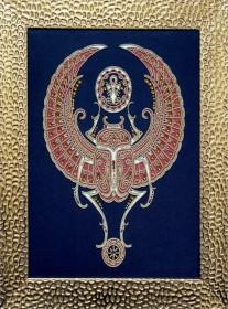 Набор для вышивки бисером на габардине Священный скарабей, , 360.00грн., НЮ-067, Миледи, Сказочные персонажи
