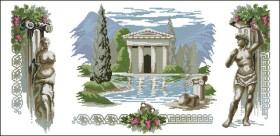Схема вышивки бисером на атласе Триптих Греция, , 150.00грн., ТС-05, Эдельвейс, Картины из нескольких частей