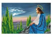 Схема вышивки бисером на габардине Ісус на оливковій горі