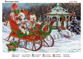 Схема для вышивания бисером Весёлых праздников, , 40.00грн., ЮМА-4433, Юма, Собака символ 2018 года своими руками