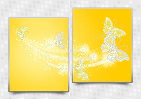 Схема для вышивки бисером на атласе Ажурные бабочки (жёлтый) Диптих, , 182.00грн., АРЗ-013, А-строчка, Картины из нескольких частей