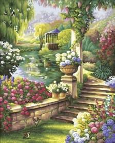 Набор для выкладки алмазной мозаикой Сказочный сад, , 640.00грн., DM-078, DIAMONDMOSAIC, Пейзажи