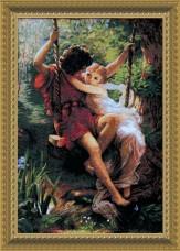 Набор для вышивки крестом Влюбленные на качелях Чарiвна мить (Чаривна мить) 481