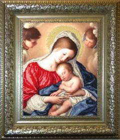 Набор для вышивки бисером Мадонна с младенцем Краса и творчiсть 71210 - 530.00грн.