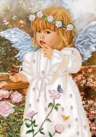 Рисунок на ткани для вышивки бисером Ангел