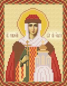 Схема вышивки бисером на атласе Св. Ольга