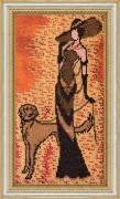 Набор для вышивки бисером Дама с собачкой