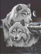Рисунок на ткани для вышивки бисером Волки
