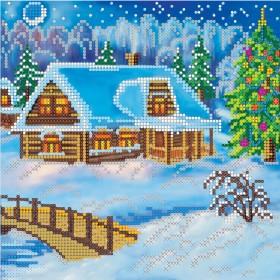 Схема для вышивки бисером на холсте Вечер Рождества