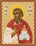 Рисунок на ткани для вышивки бисером Святой Владислав Сербский