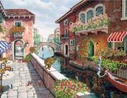 Рисунок на ткани для вышивки бисером  Венеция