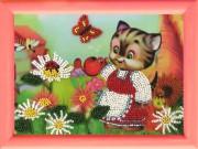 Рисунок на ткани для вышивки бисером Кошечка