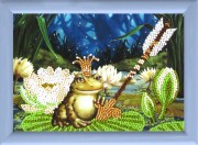 Рисунок на ткани для вышивки бисером Царевна-лягушка