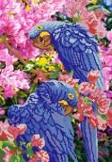 Рисунок на ткани для вышивки бисером Попугаи