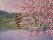 Рисунок на ткани для вышивки бисером Цветение сакуры
