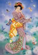 Рисунок на ткани для вышивки бисером Восточная красавица