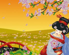 Рисунок на ткани для вышивки бисером Праздник Сакуры А-строчка АК3-020 - 85.00грн.