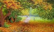 Рисунок на ткани для вышивки бисером Осенний парк