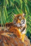 Рисунок на атласе для вышивки бисером Хозяин джунглей