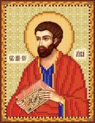 Рисунок на атласе для вышивки бисером Святой Лука